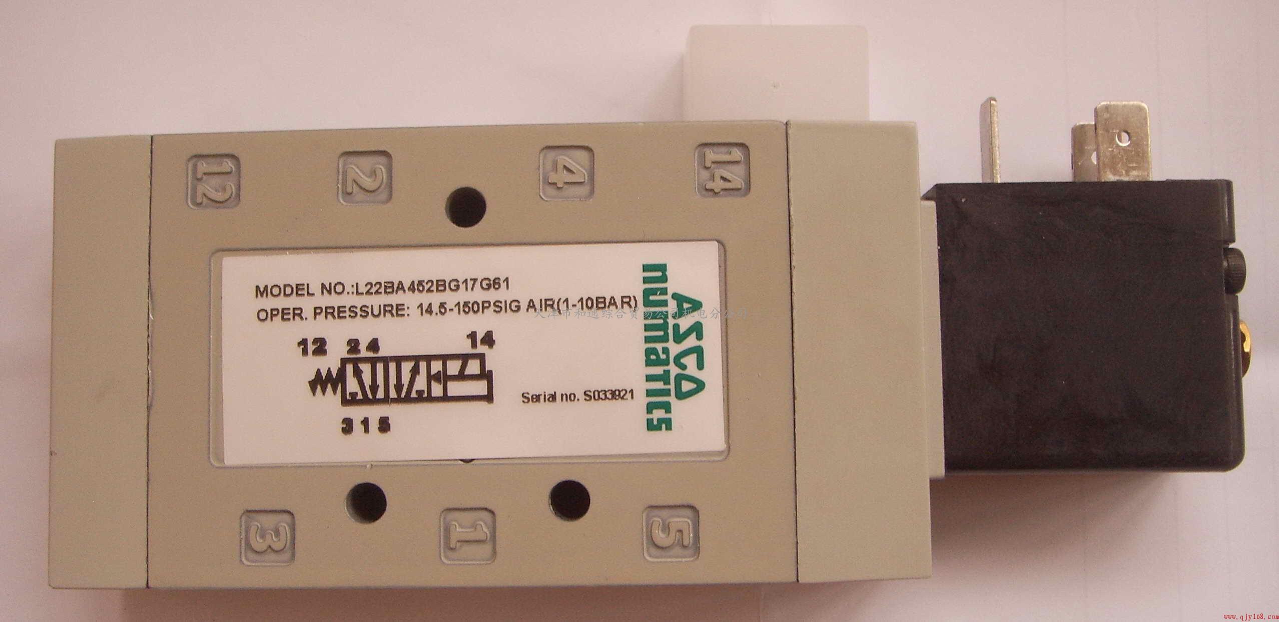 numatics纽曼蒂克l22ba452bg17g61型电磁阀图片