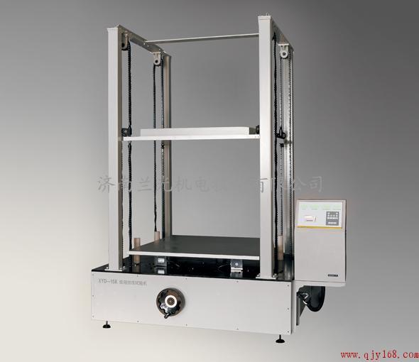纸箱抗压试验机兼顾塑料桶(食用油,矿泉水),纸桶,纸盒,纸罐,集装容器图片
