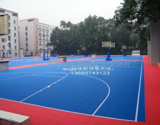 悬浮式拼装运动地板,室外篮球场专用