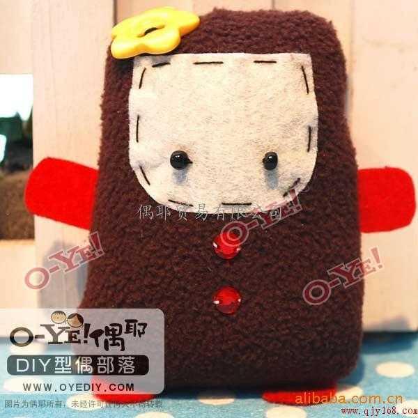 布衣,偶耶手工布偶制作,手机布偶材料包