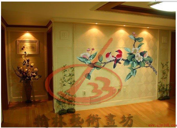四川壁画 四川手绘墙 壁画 ----四川成都电视背景墙壁画