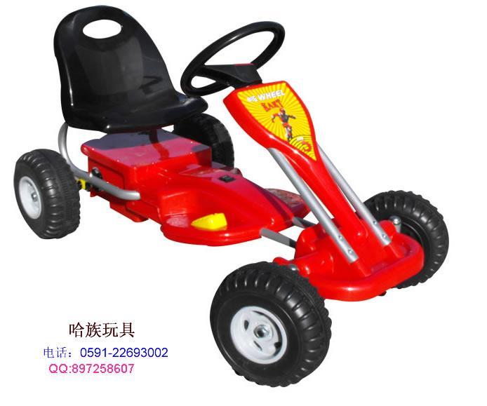 外形的可爱和仿真,使儿童健身太空车完全不同于以往童车,具有很强的