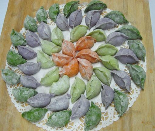 幼儿园手工制作饺子图