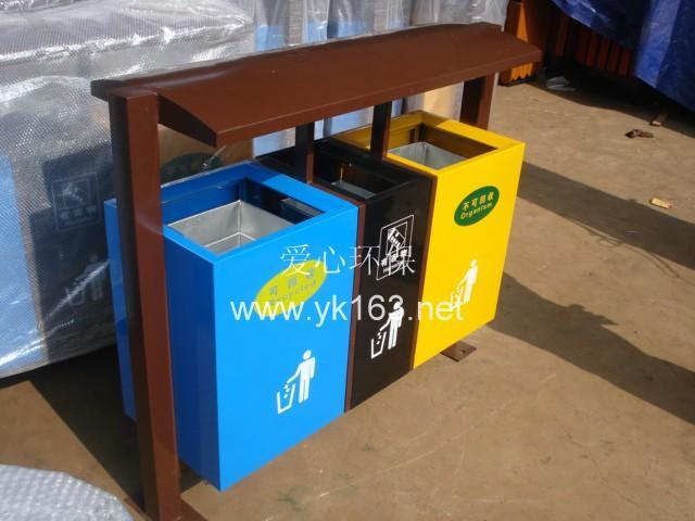 供应永康垃圾桶 垃圾箱 不锈钢分类垃圾箱图片
