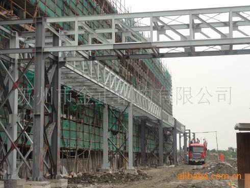 钢结构工业园大型厂房(图) 管架安装
