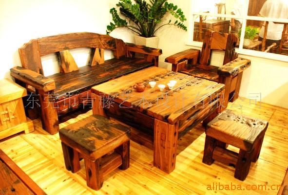 废旧木板自制茶台 图片合集