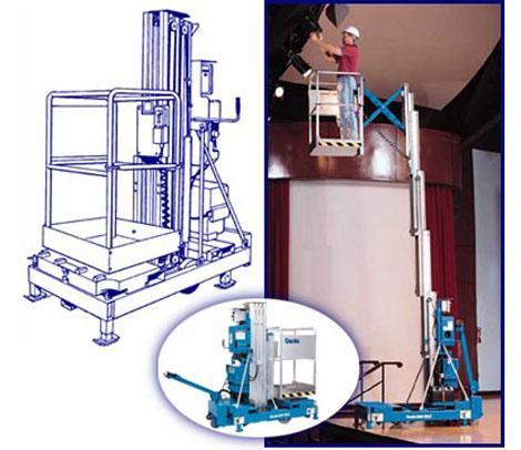单桅柱液压升降机图片