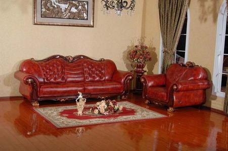 大款欧式皮沙发厂家 河北艺博旺品牌皮沙发