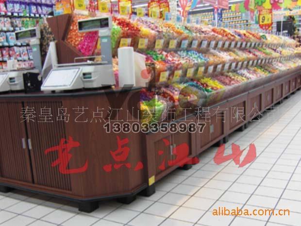 糖果架,果蔬架,杂粮架,杂粮柜,生鲜木制货架,面包架,糕点柜,酱菜架图片