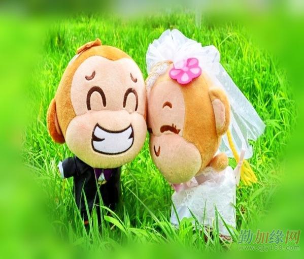 毛绒玩具批发 婚庆礼物婚纱悠嘻猴 结婚情侣猴子