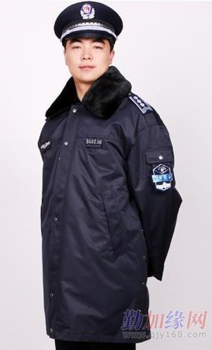 2011新式保安棉服 保安棉服大衣订做 执勤棉大衣图片