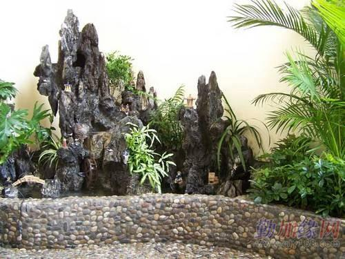 园林景观 凉亭 花架 地板 生态鱼池 水景 喷泉 假山