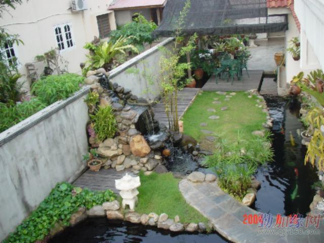 高层 楼房 室内 阳台 锦鲤鱼池设计建设