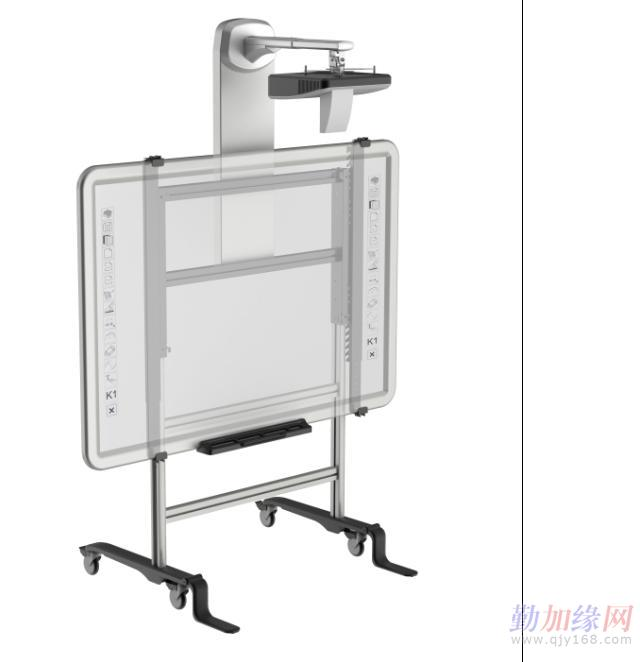 iwm-301移动式手动升降短焦白板支架