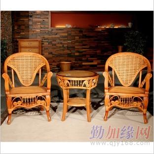 藤编休闲椅子三件套组合茶几_藤编休闲椅子三件套组合