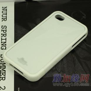 苹果手机4壳_城市猎人sgpiphone4s壳子手机壳 冰激凌 苹果4白色