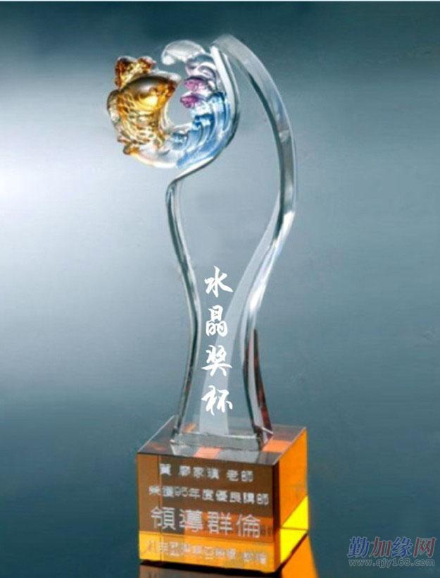 上海水晶大拇指奖杯,水晶圆柱体奖杯,水晶五角星奖杯