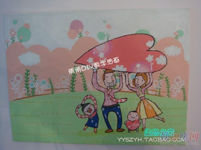 数字油画包邮特价风景彩绘数字画数码油画diy手绘画40