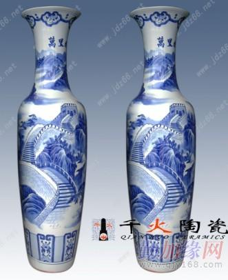 传统手工制作陶瓷大花瓶,青花瓷陶瓷大花瓶,粉彩陶瓷大花瓶,手工雕刻