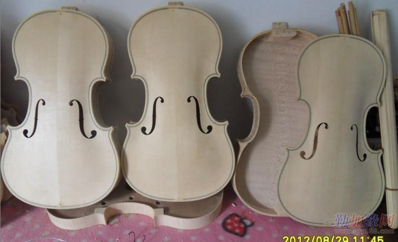 全手工制作虎纹小提琴 中高档小提琴