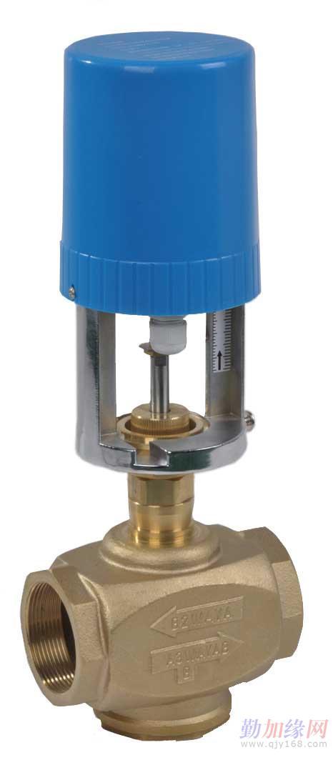 vl系列电动铸铜调节二通,三通阀配以电子驱动装置后能调节水或蒸汽在图片
