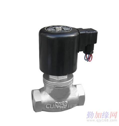 3)先导式电磁阀:   原理:通电时,电磁力把先导孔打开,上腔室压力图片