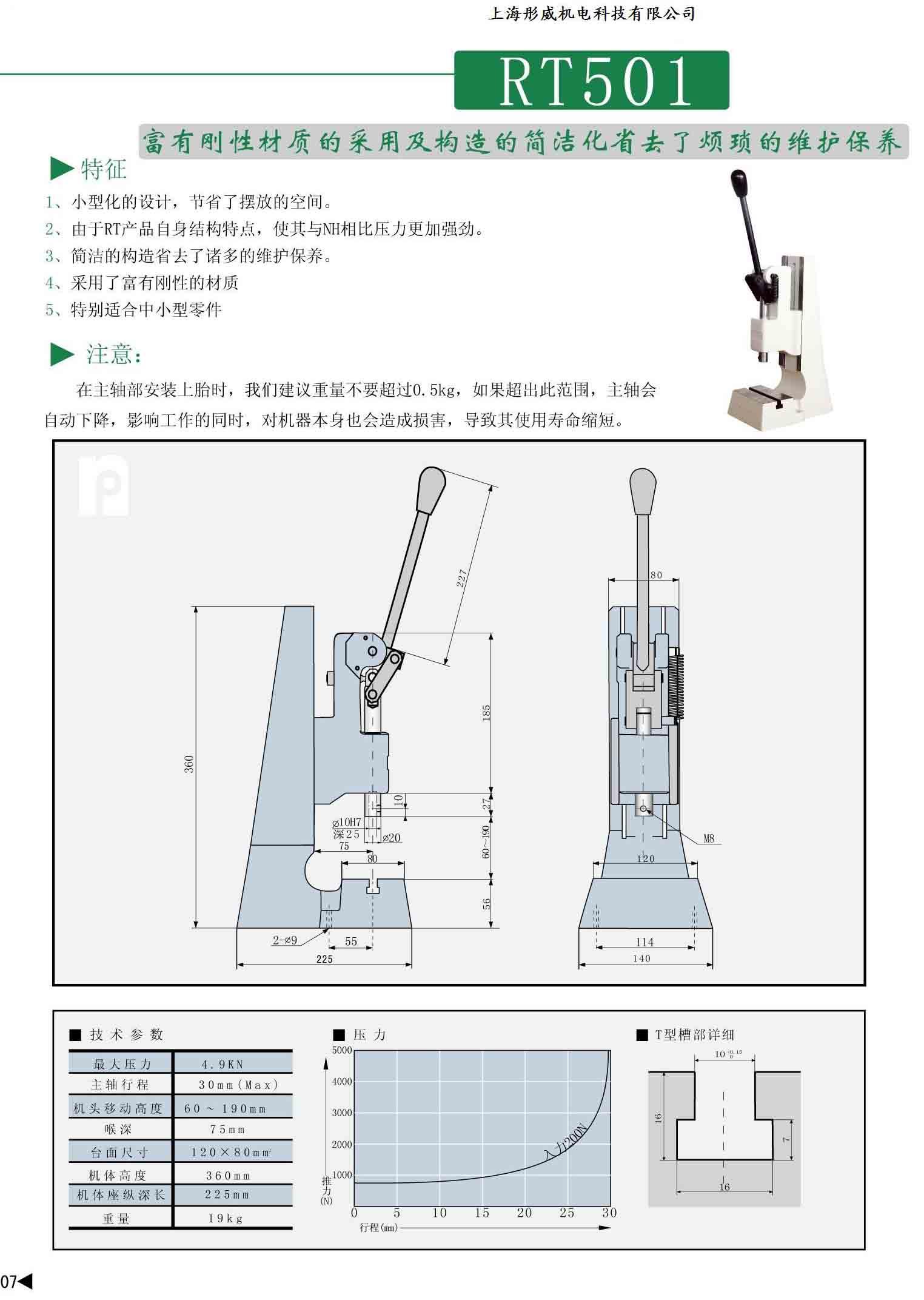 日本naka压力机rt501图片