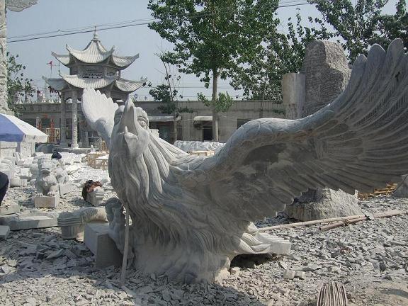 石雕大鹏,动物石雕,山东嘉祥石雕