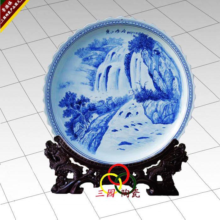 蛇年室内装饰大瓷盘