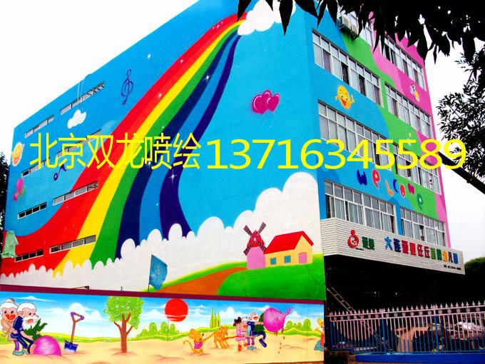 喷绘 幼儿园喷绘 北京幼儿园喷绘 幼儿园外墙喷绘 幼儿园内墙