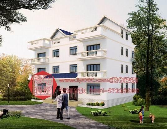 别墅外观效果图 农村住房设计效