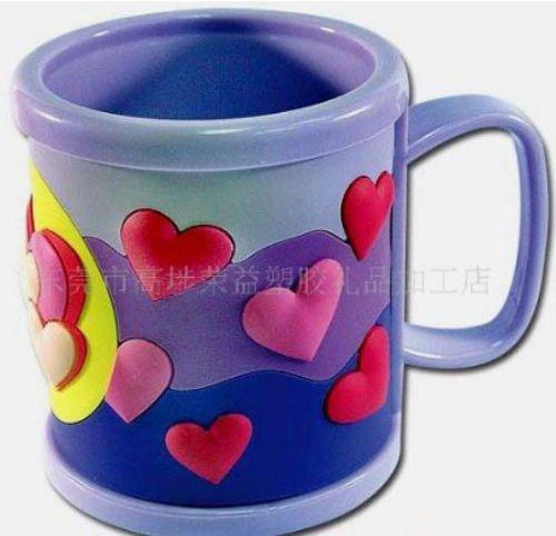 pvc马克杯 滴胶马克杯 卡通马克杯 杯子
