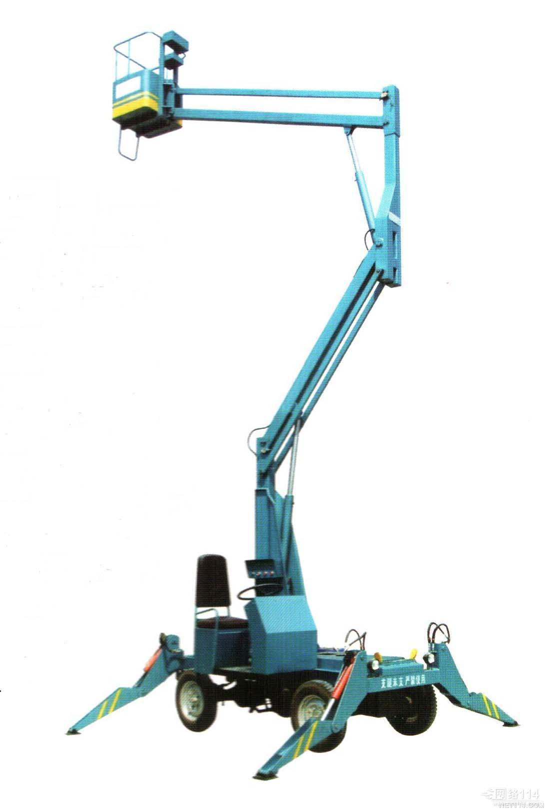 液压自行折臂式升降机图片