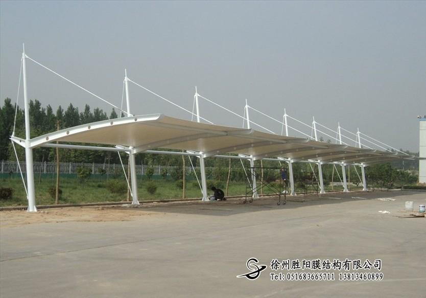 优质山东鑫昊金属结构有限公司汽车棚工程,膜结构停车
