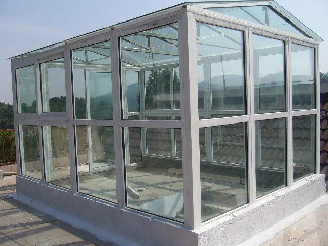 钢结构玻璃阳光房 露台 天井 夹胶防爆玻璃 安全节能