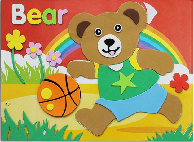 幼儿园美劳益智贴画 故事拼图玩具批发 卡通贴画 创意手工贴