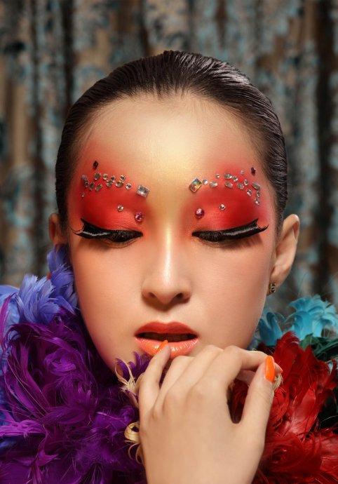T台创意妆整体造型
