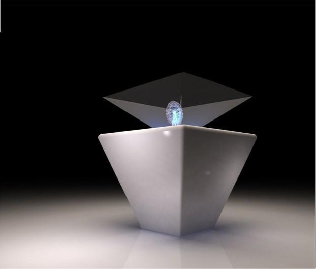 360度全息透明玻璃金字塔