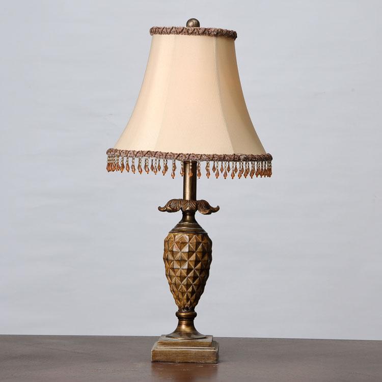菠萝树脂台灯欧式创意古典/客厅书房卧室床头装饰灯美式乡村田园