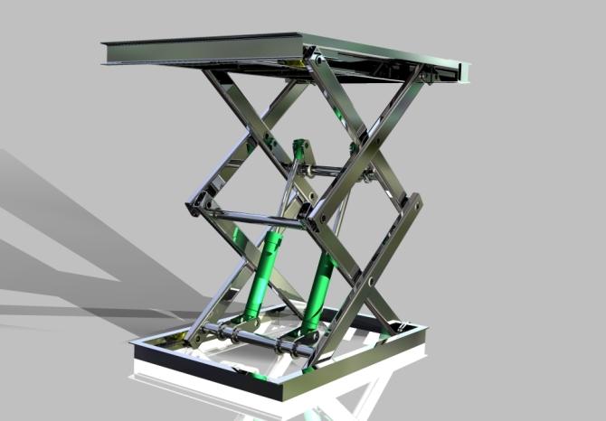 是用于建筑物层高间运送货物的专用液压升降台产品主要用各种工作层图片