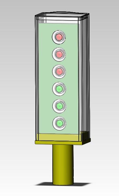 低功耗,防止眩晕等独特性能,能广泛应用于道路坡度,转弯指示,隔离带防