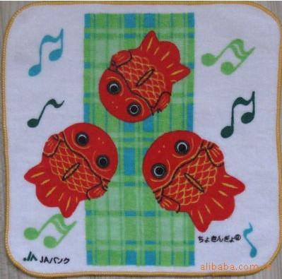 卡通动漫人物 ,花朵 动物 小黄鸭 儿童方巾, 口水巾, 擦嘴巾, 洗澡