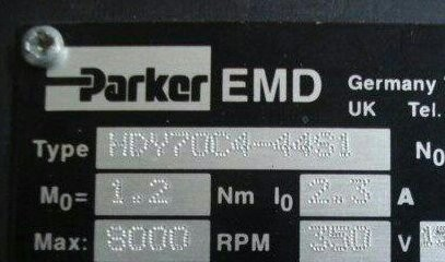 Parker Custom伺服电机MPM1421杭州绍兴维修