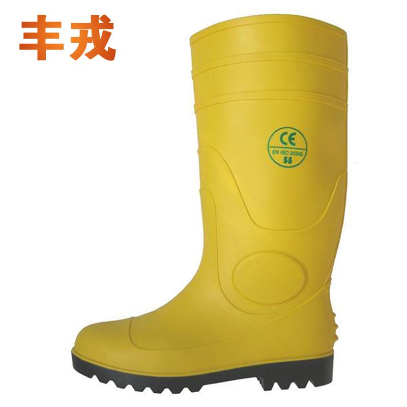 供应 钢头雨鞋 钢板雨靴 耐酸碱水鞋 高筒防砸防刺雨靴 煤矿