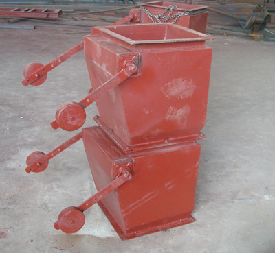 重锤式锁风翻板阀采用钢板焊接图片