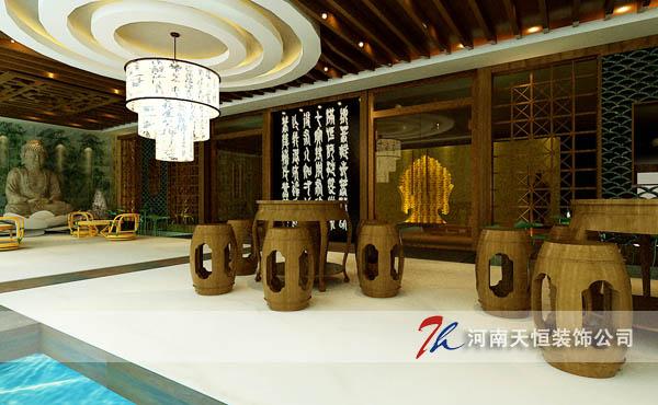 茶楼装修设计的要点,郑州最好的茶楼装修设计公司图片