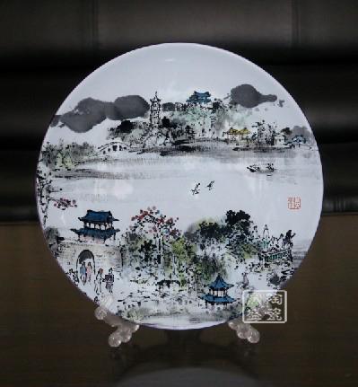 供应批发瓷盘旅游风景纪念盘设计瓷盘