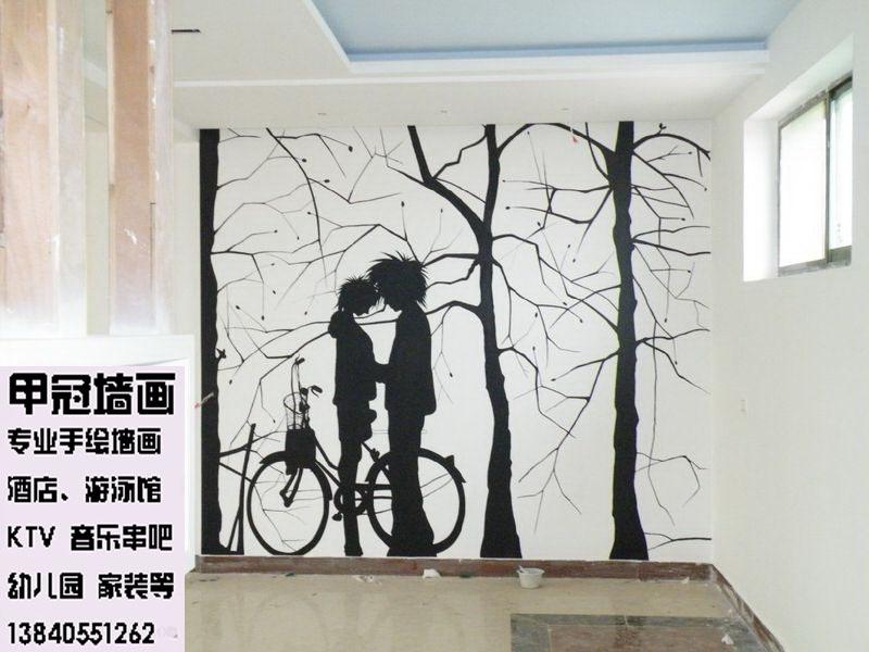 沈阳摄影工作室手绘墙背景,沈阳摄影场景设计手绘墙画