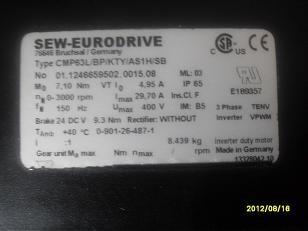 SEW伺服电机CFM90S/BR/HR、DFY71M维修销售