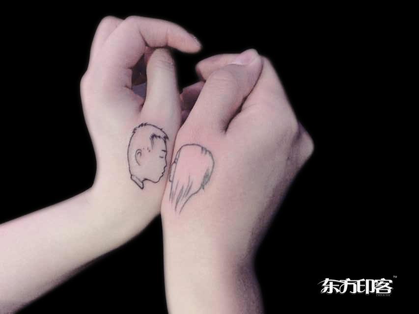 情侣英文字体纹身